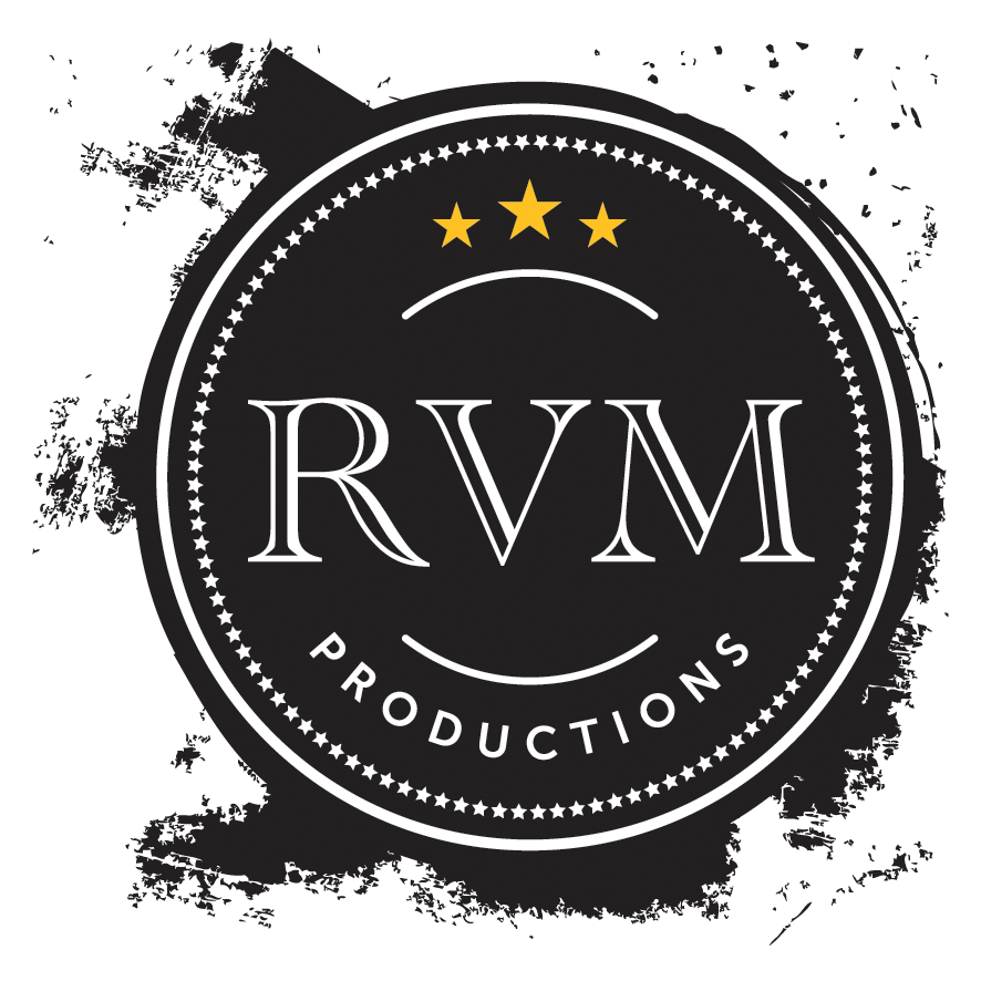 RVM Productions logo transparent RGB PNG 300dpi